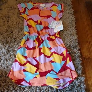 New with tags LuLaRoe girls Mae dress